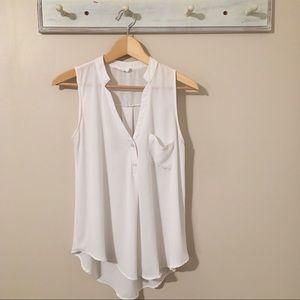 Lush White Sleevless Top